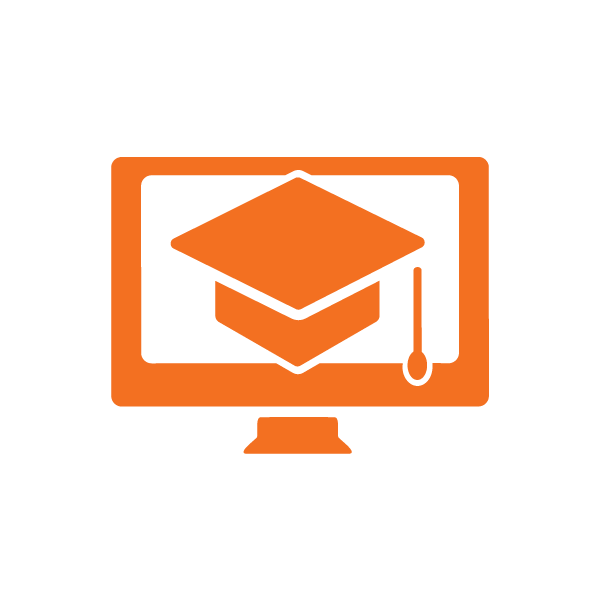 orange icon computer screen