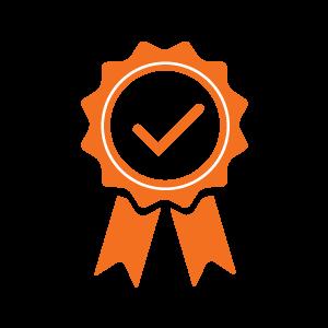 oranges Icon Siegerschleife