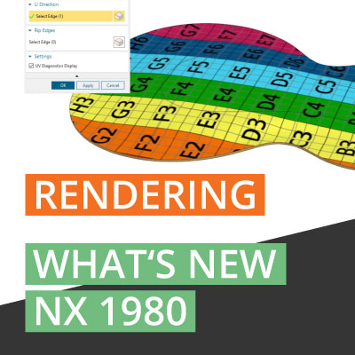 What's New NX 1980 Rendering mit UV Map